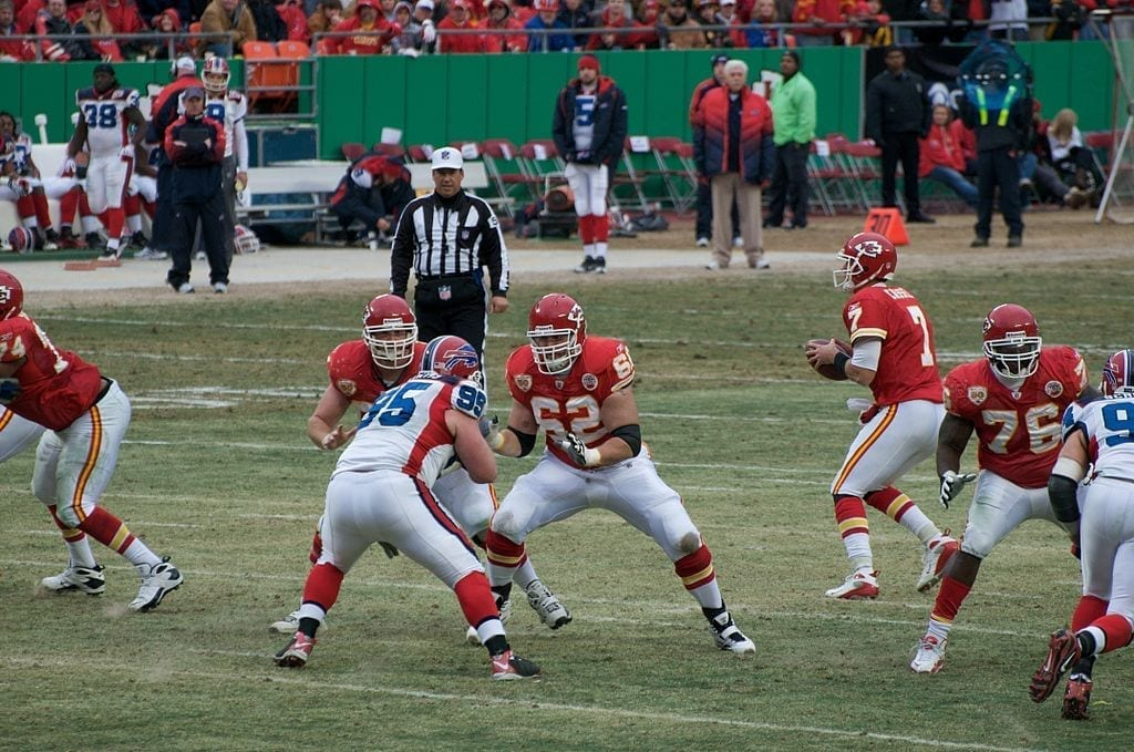 Image of the Kansas City Chiefs Playing Against Buffalo Bills