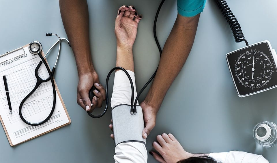 Image of a patient having vitals taken