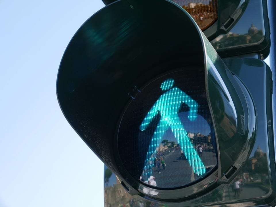 Image of a Pedestrian walk signal for crosswalk