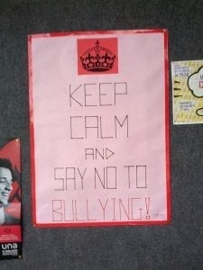 "Image of a ""say no to bullying poster"""