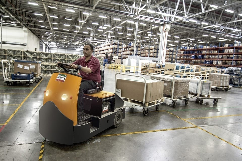 Image of a warehouse worker