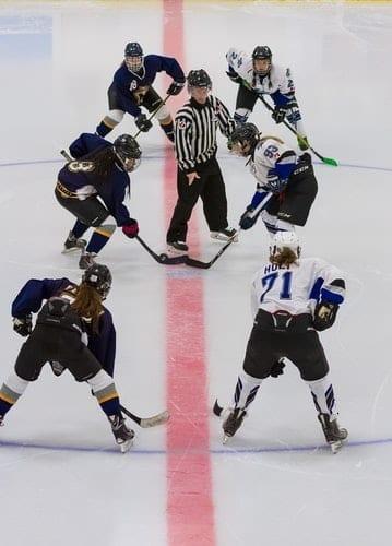 Image of female ice hockey players