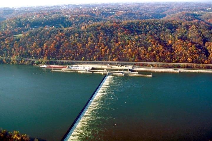 Image of Dashields Locks and Dam