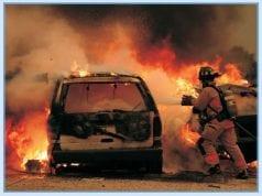 Crash scene; image courtesy of NHTSA.gov, Public domain.