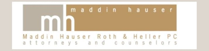 Maddin, Hauser, Roth & Heller, PC logo; image courtesy of Maddin Hauser.
