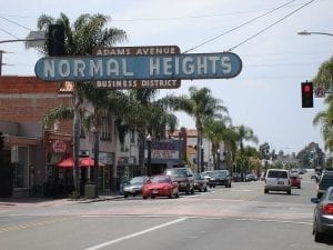 Image of Normal Heights, a neighborhood of San Diego