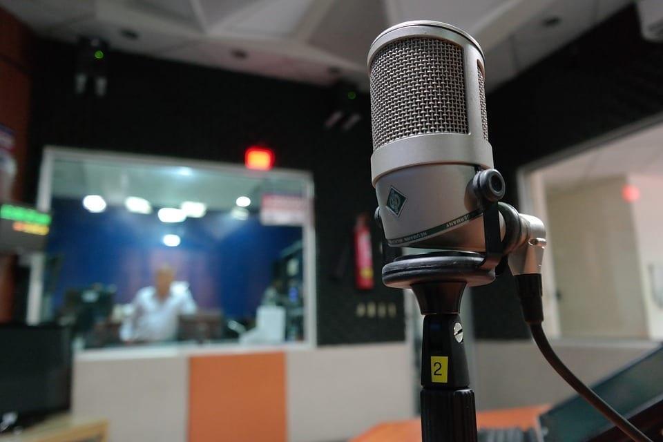 Image of a radio studio