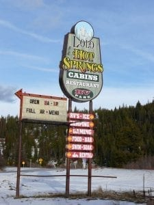 Image of a sign for the Lolo Hot Springs