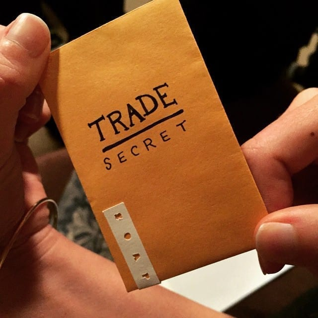 "Envelope labeled ""Trade Secret""; image by Ben Chun, via Flickr, CC BY-SA 2.0, no changes."