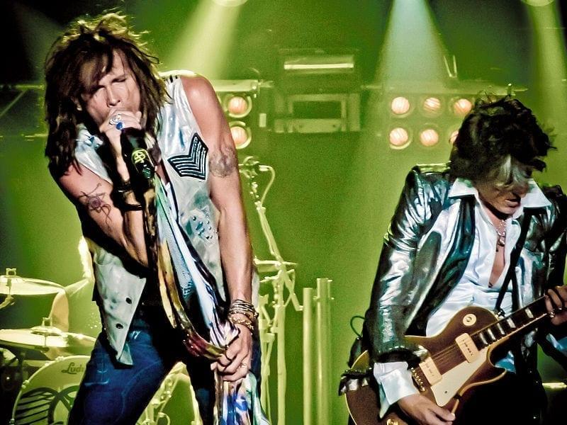 Image of Aerosmith performing in Arnhem, Netherlands