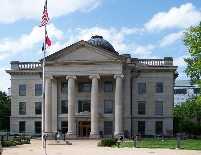 Image of the Boone County Courthouse in Columbia, Missouri
