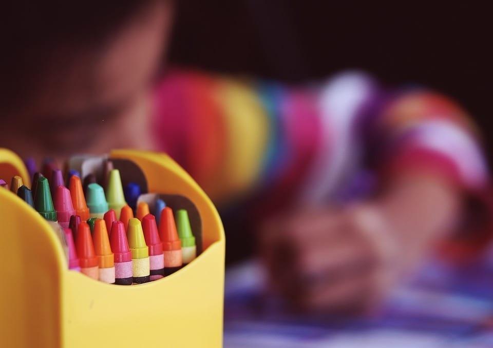 Image of a Box of Crayons