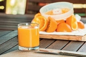 Image of a glass of fresh squeezed orange juice