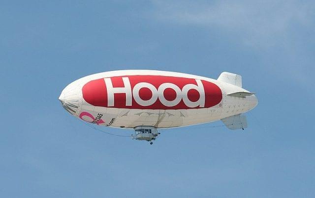 Image of an HP Hood LLC blimp