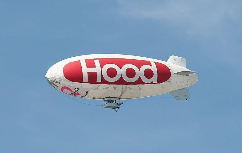 Image of an HP Hood LLC blimp