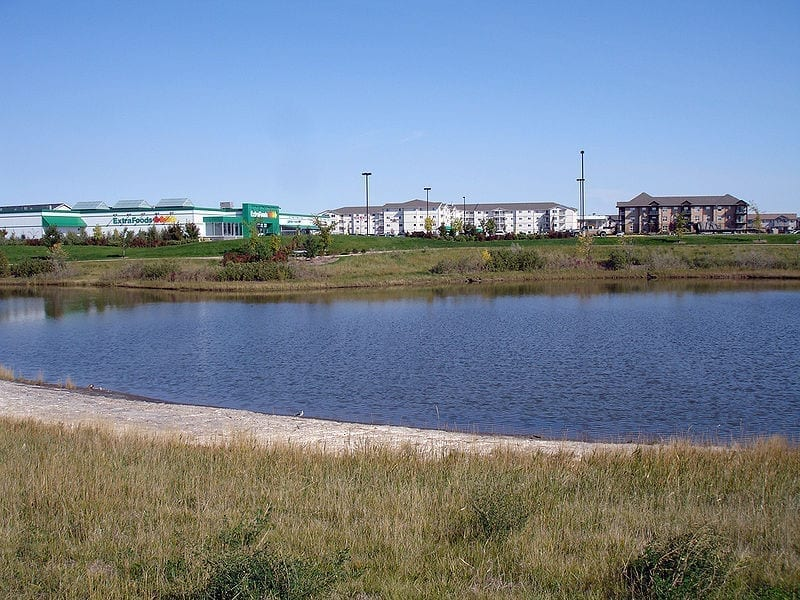 Image of a retention pond