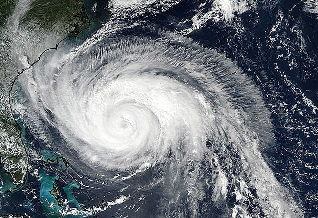 Hurricane Maria, which hit Puerto Rico in September 2017. Climate change is expected to create more and stronger storms of this nature, increasing instability in global weather systems.