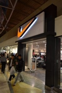Image of the Nike Factory Store in Vaughan Mills