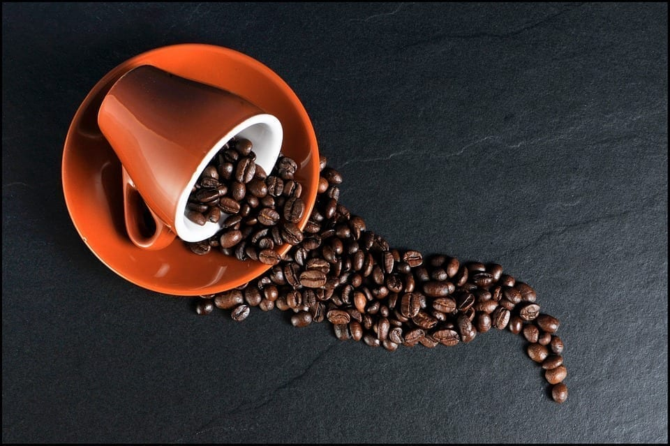 Image of a cup of coffee beans