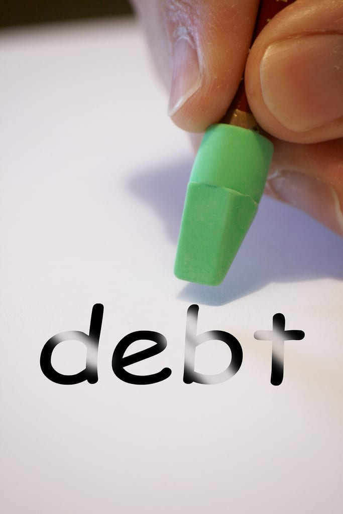 Erasing debt; image by Alan Cleaver, via Flickr, CC BY 2.0, no changes.