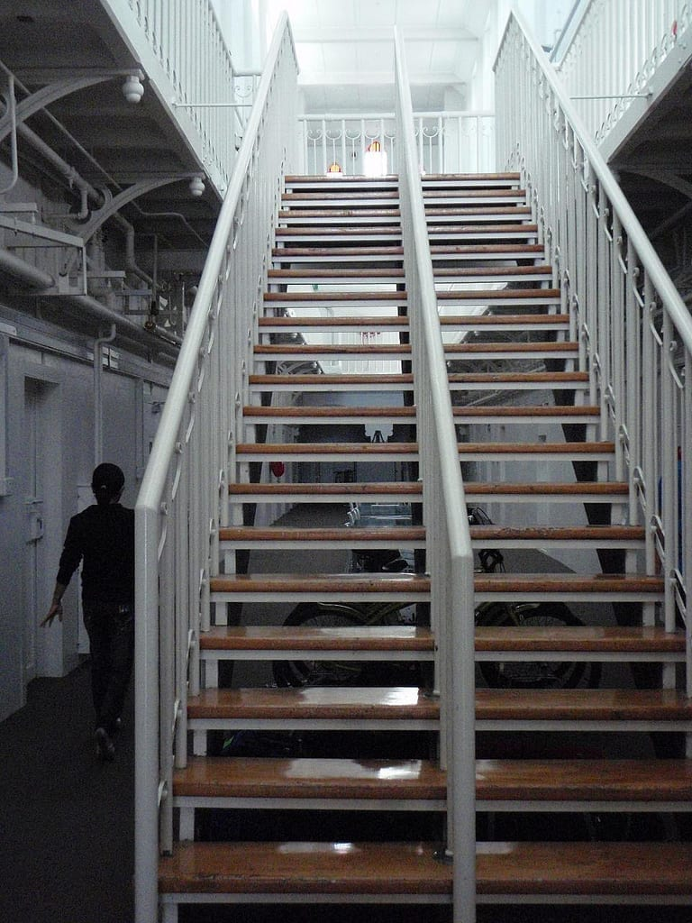 Prison stairs; image by ActiveSteve, via Flickr, CC BY-ND 2.0, no changes.