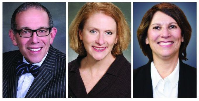 Left to right: Harvey Heller, Kathleen Klaus, and Julie Teicher; image courtesy of Maddin Hauser.