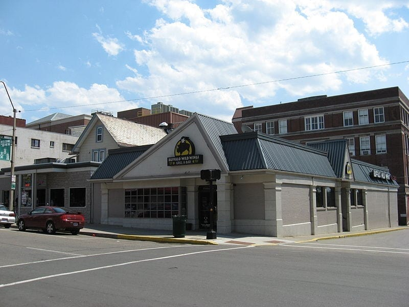 Image of the Buffalo Wild Wings location in Athens, Ohio
