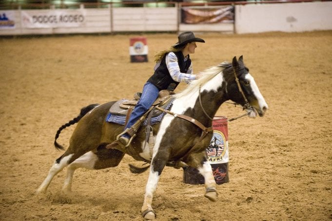 Image of a Cowgirl at a Rodeo Event