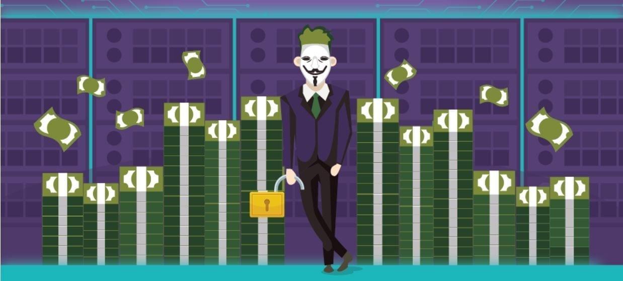 A cybercriminal unlocking secured data; image courtesy of author.
