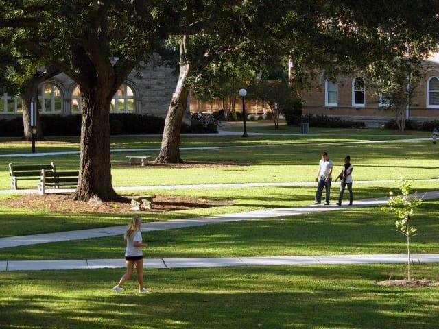 Image of Gibson Quad on Tulane University