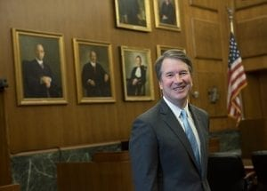 Judge Brett Kavanaugh; image by U.S. Court of Appeals for the District of Columbia Circuit [Public domain], via Wikimedia Commons.