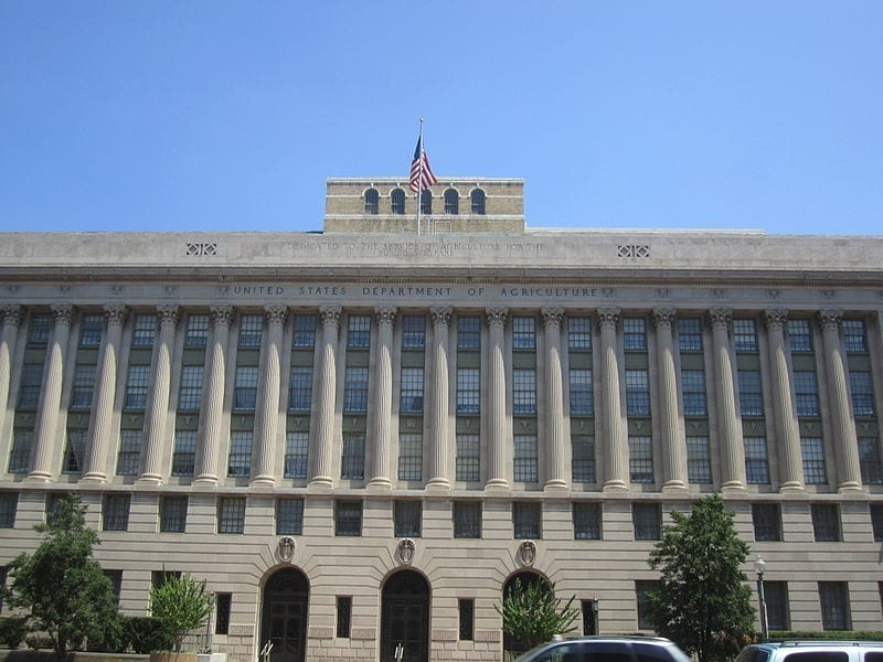 Image of The Jamie L. Whitten Building in Washington D.C., the USDA headquarters