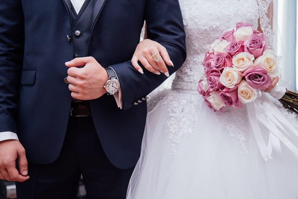Image of a wedding couple