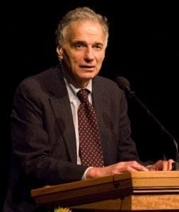 Ralph Nader; image by Don LaVange, via Wikimedia Commons, CC BY-SA 2.0, no changes.