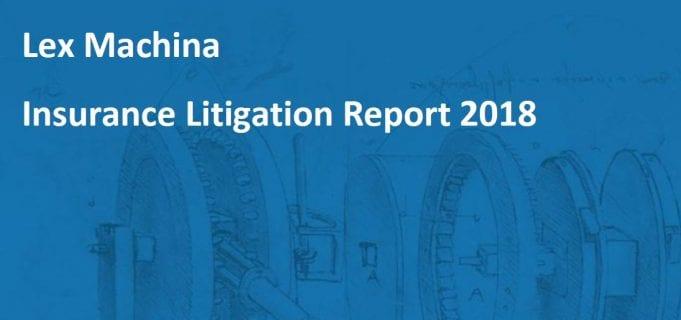 Lex Machina Insurance Litigation Report 2018; image provided by Lex Machina.
