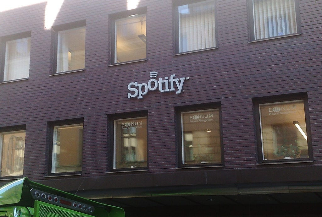 Image of the Former Spotify headquarters in Stockholm