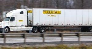 Image of a J.B. Hunt Transport Semi Truck