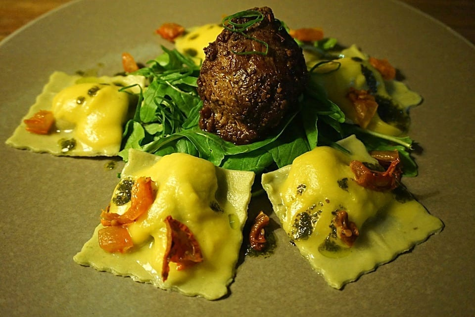 Image of a Plate of Ravioli