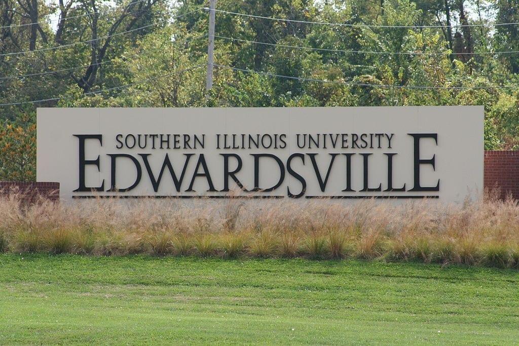 Image of the Southern Illinois University-Edwardsville Main Entrance Sign