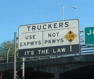 Image of a Trucker Traffic Sign