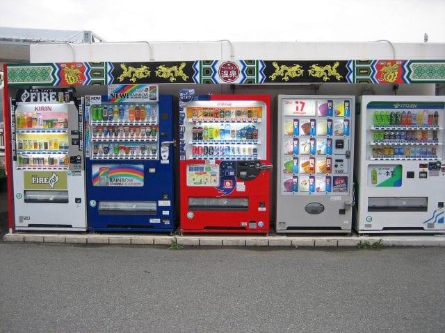 Vending machines; image via Pexels.com.