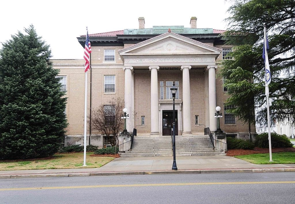 Image of the York County Courthouse, South Carolina
