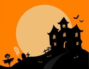 Image of a Haunted House Illustration