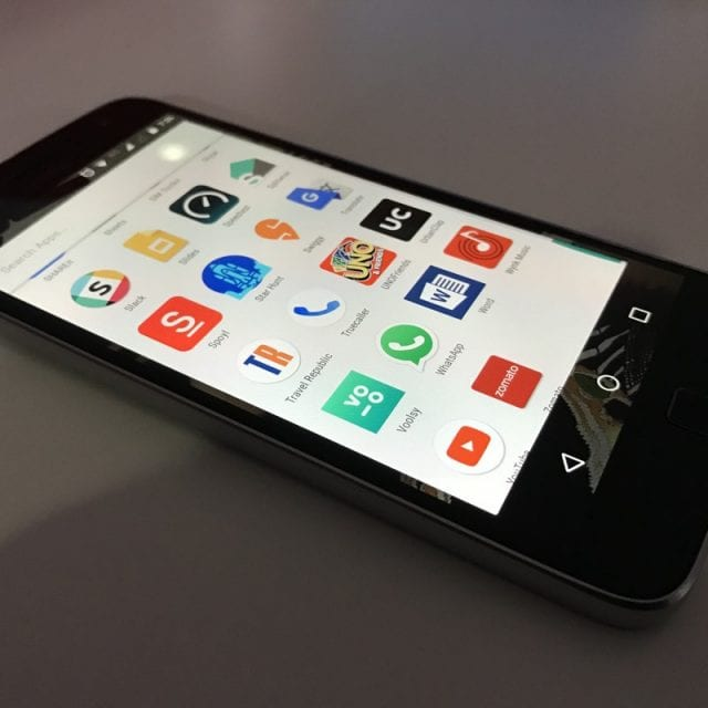 Smartphone showing various apps; image by Matam Jaswanth, via Unsplash.com.