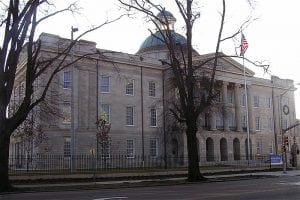 Image of the Mississippi Old Capitol, downtown Jackson