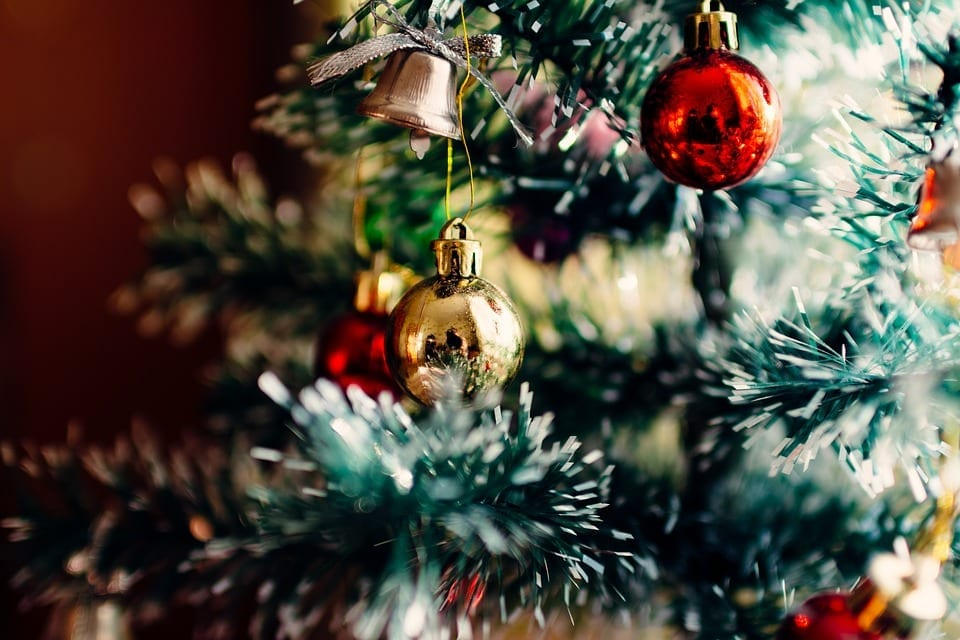 Image of Ornaments on a Christmas Tree