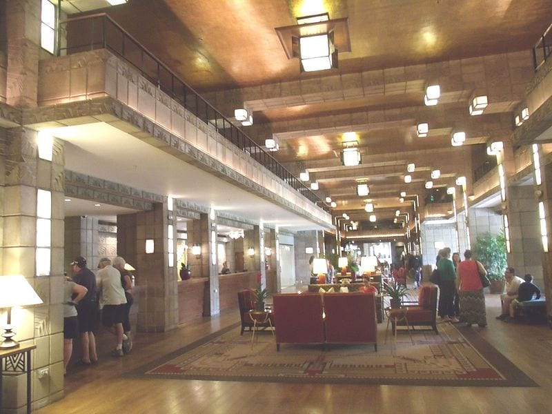 Image of the lobby of the Arizona Biltmore Hotel
