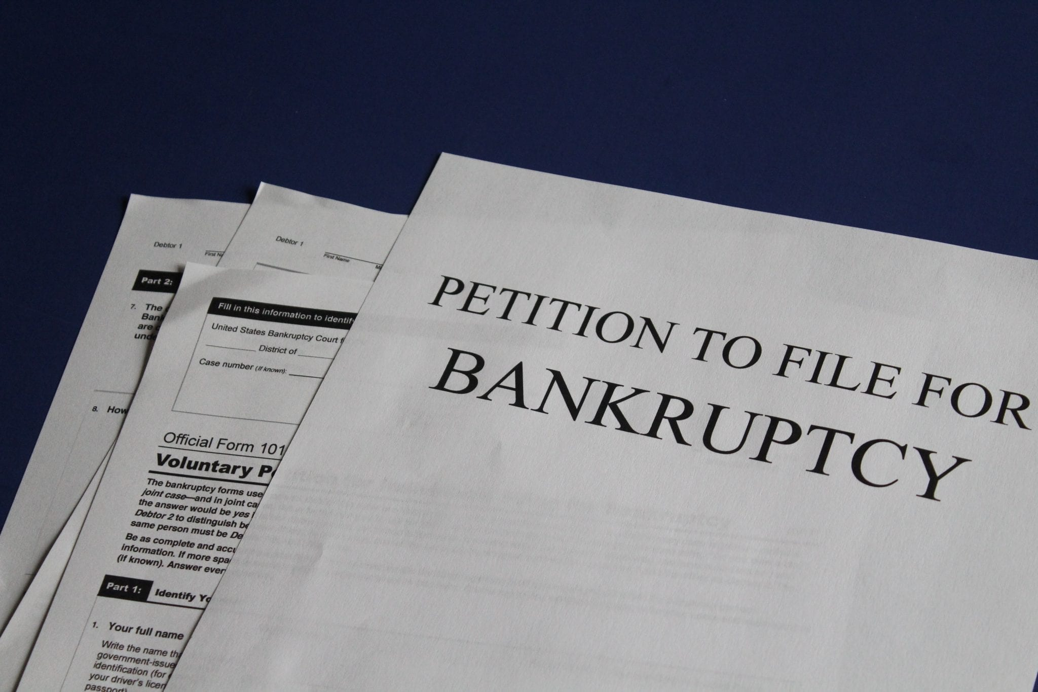Petition to file for bankruptcy; image by Melinda Gimpel, via Unsplash.com.
