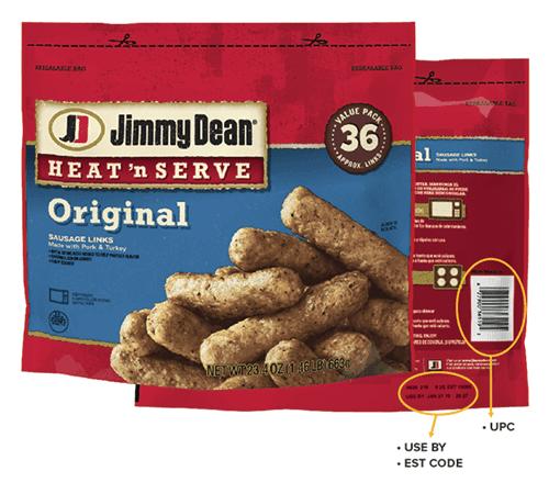 Recalled Jimmy Dean Sausage
