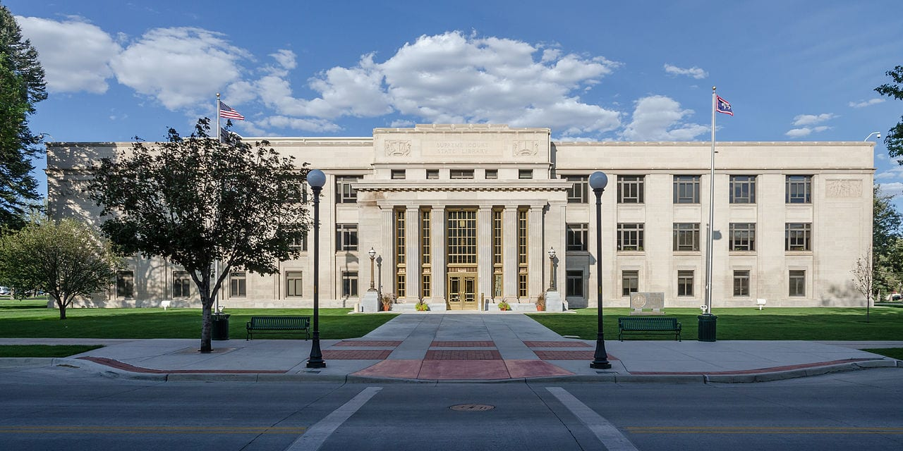 The Supreme Court of Wyoming Building as seen from Capitol Avenue, Cheyenne